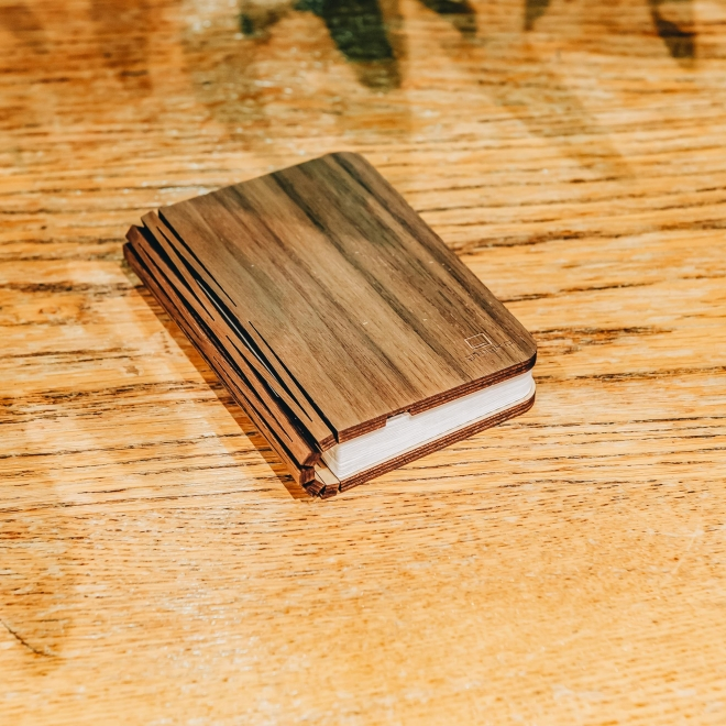 Wooden Folding Book Light Walnut Mini