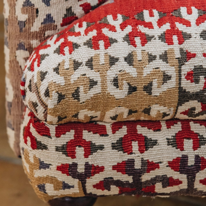 Kilim Armchair, detail of seat