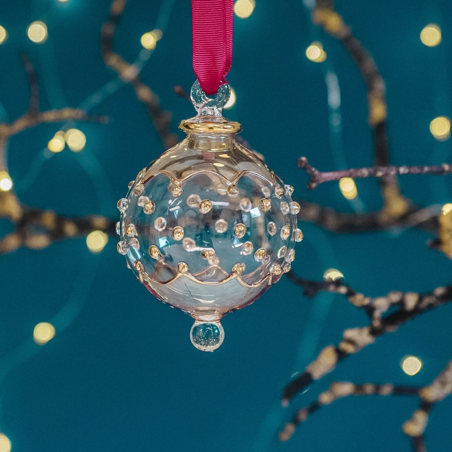Carousel Glass Bauble - Gold