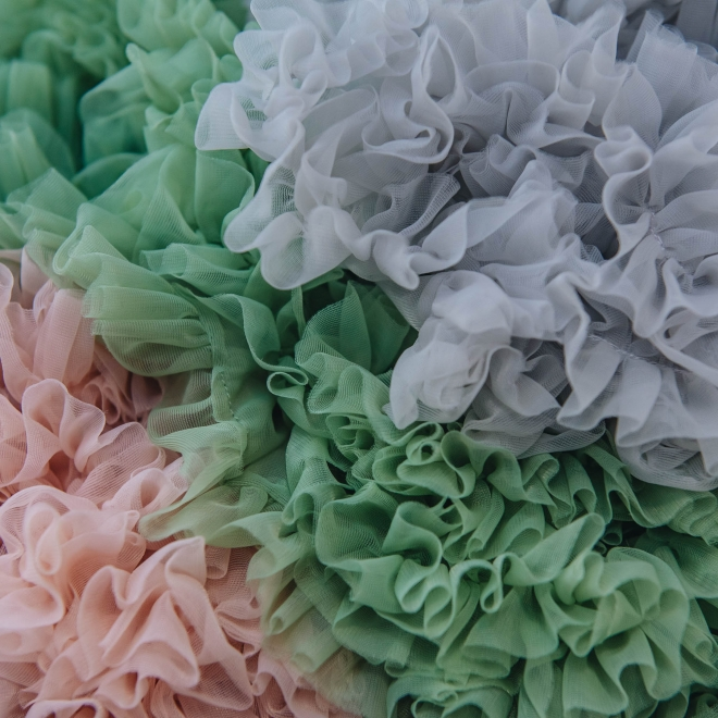 Children's Tutu, detail of ruffled skirt hems