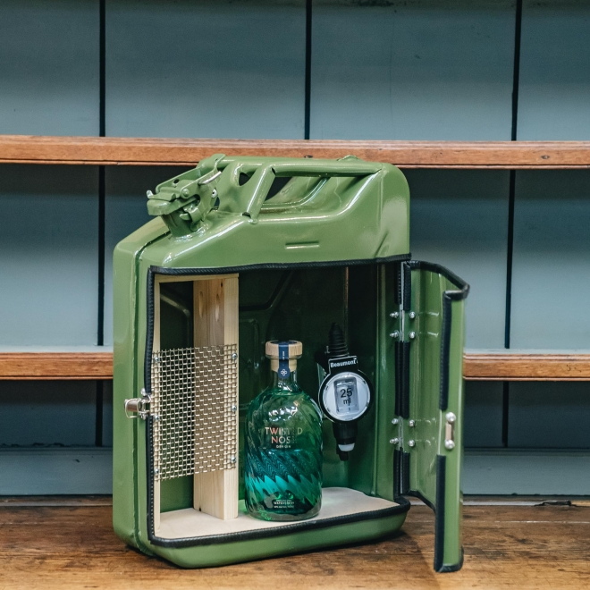 Jerry Can Drinks Bar Cabinet - Green
