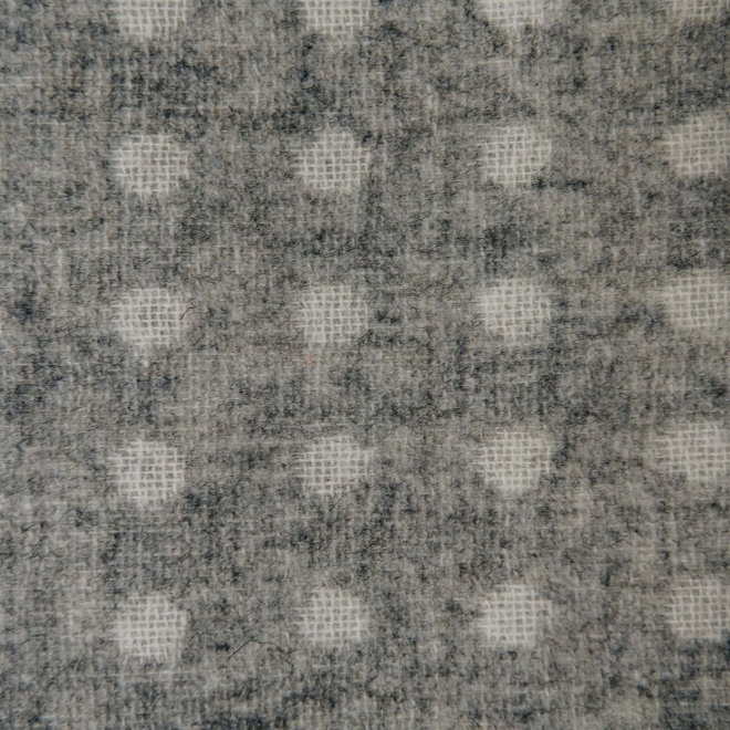 Grey Spot Throw, detail of weave