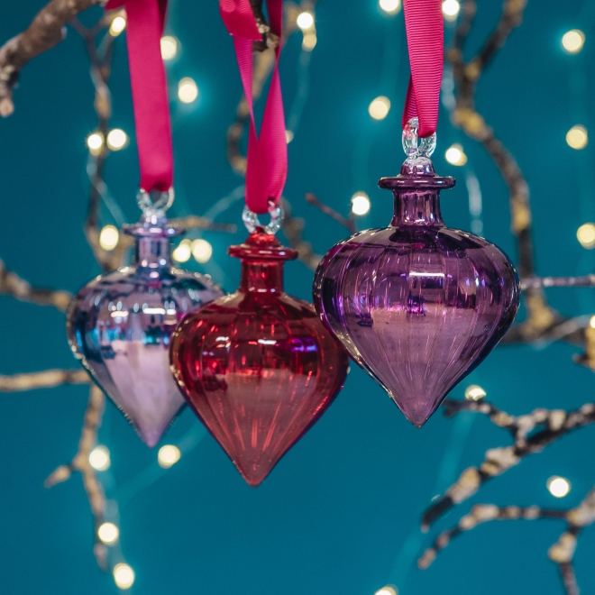 Jasmine Jewel Glass Decorations