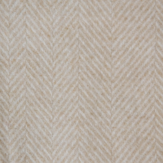 Variegated Herringbone Throw, Beige, detail of weave