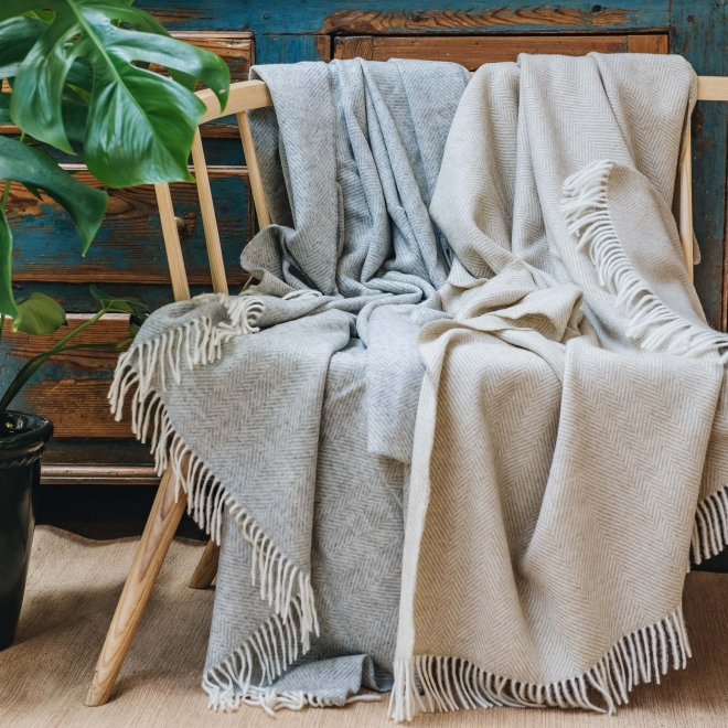 Variegated Herringbone Throws