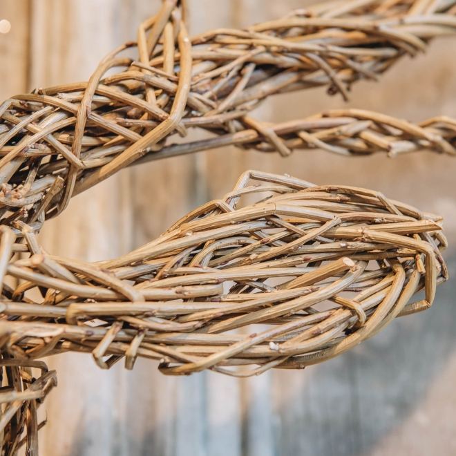Willow Stag Head, detail