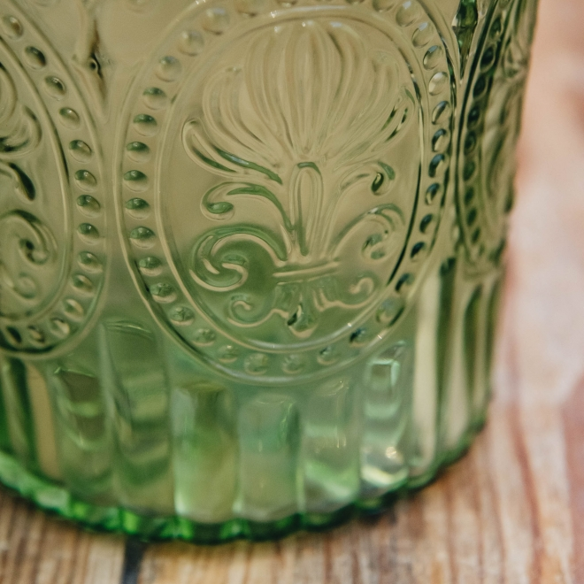 Coloured Glass Carafes - Green