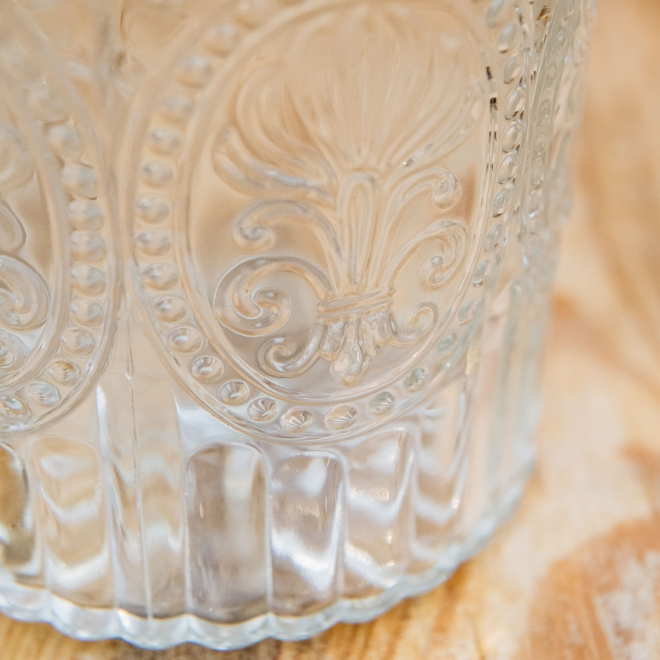 Coloured Glass Carafes - Clear
