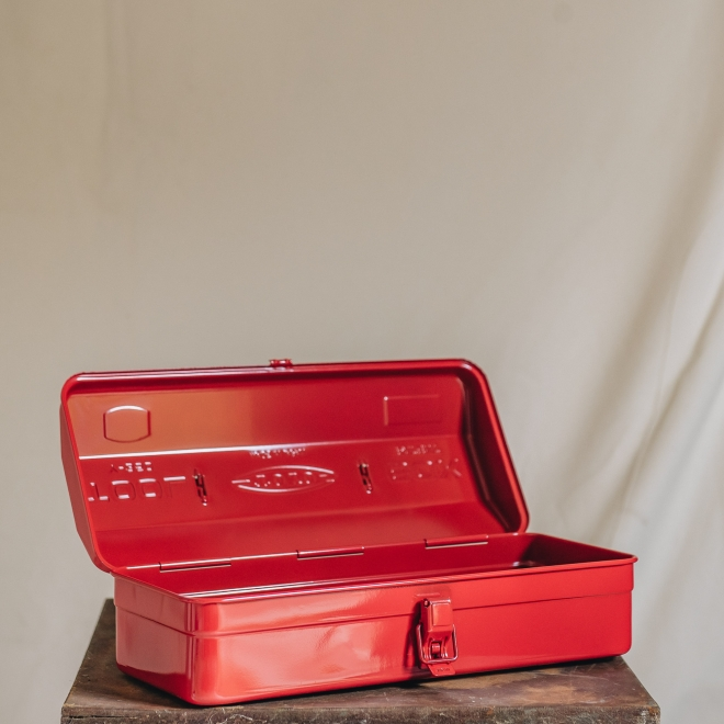 Japanese Toyo Tool Box Red - open