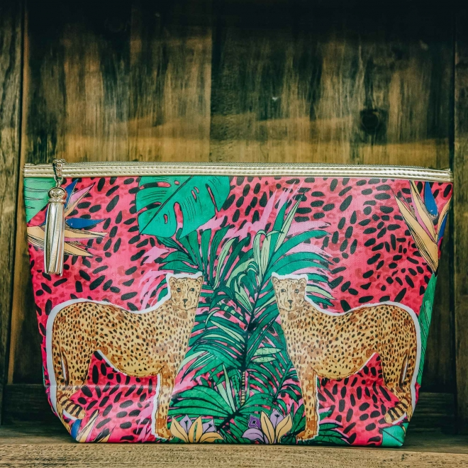 Giant Wash Bags from Burford - Hot Cheetah Design