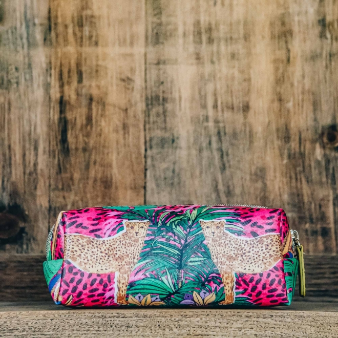 Hand-bag sized Make Up Bags from Burford - Hot Cheetah Design