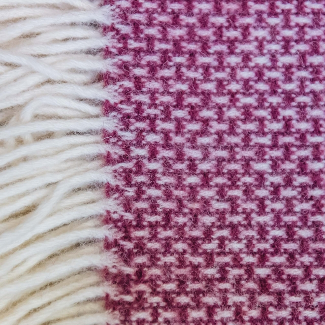 Ombre Wool Throw - Rosewood