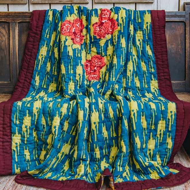 Paradise Garden Peacock Quilts second side