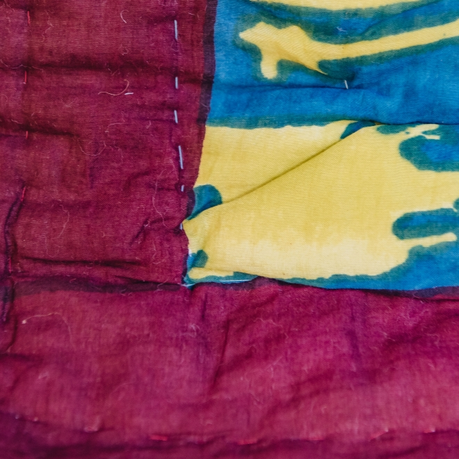 Paradise Garden Peacock Quilts second side detail