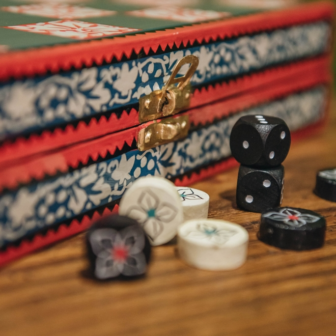 Checkers and Backgammon, detail of pieces
