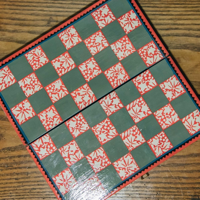 Checkers and Backgammon, detail of board