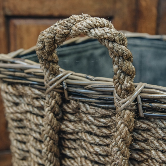 quare Woodblock Basket - detail
