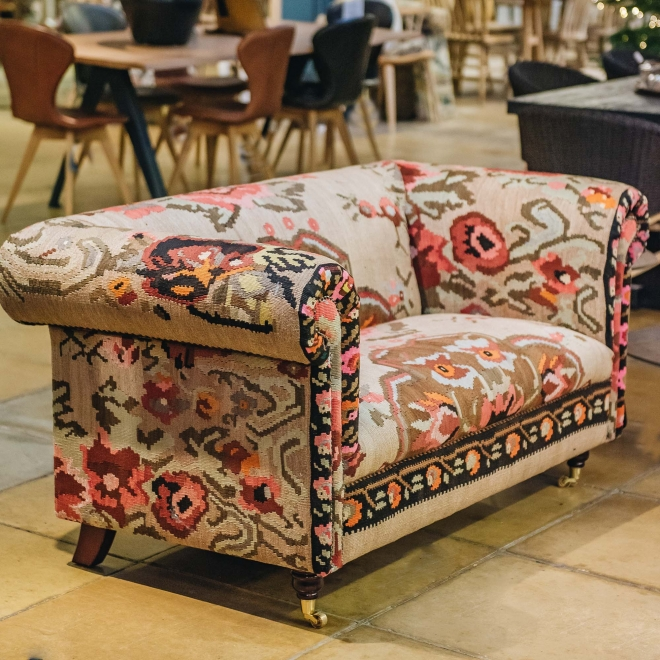 Ganesh Kilim Chesterfield Sofa