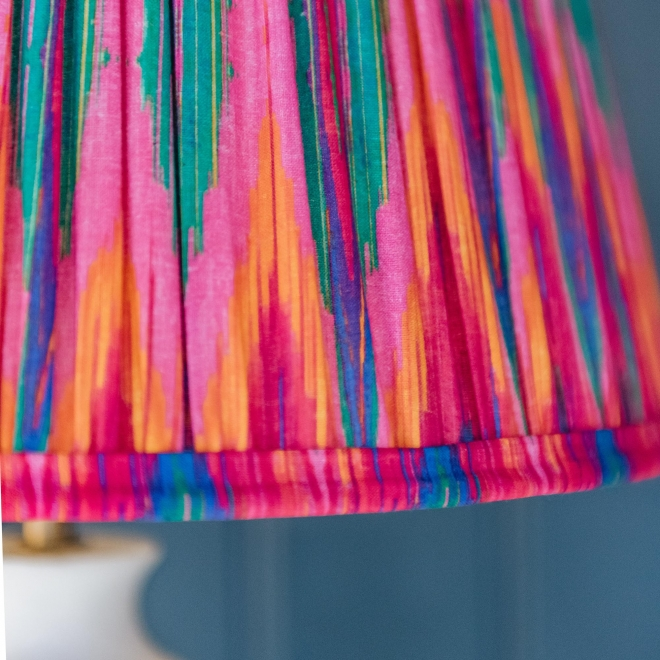 Pooky Straight Empire Shade Pink Ikat by Matthew Williamson - lit