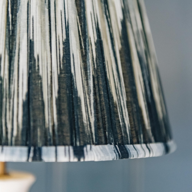 Pooky Straight Empire Shade Black and White Ikat by Matthew Williamson