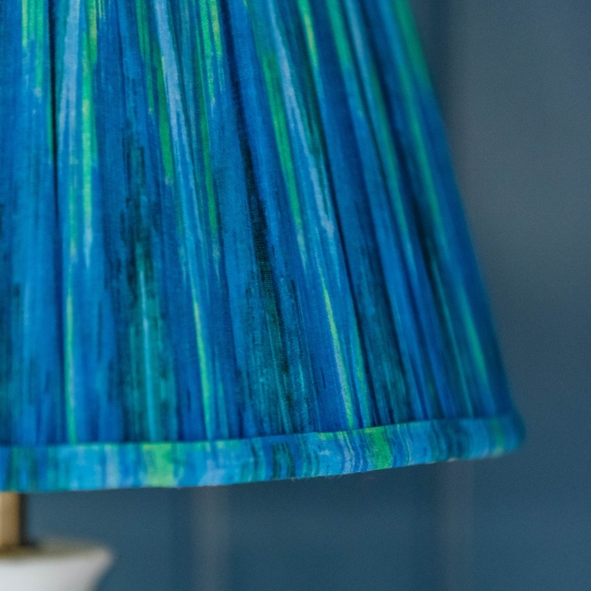 Pooky Straight Empire Shade Teal Ikat by Matthew Williamson - not lit