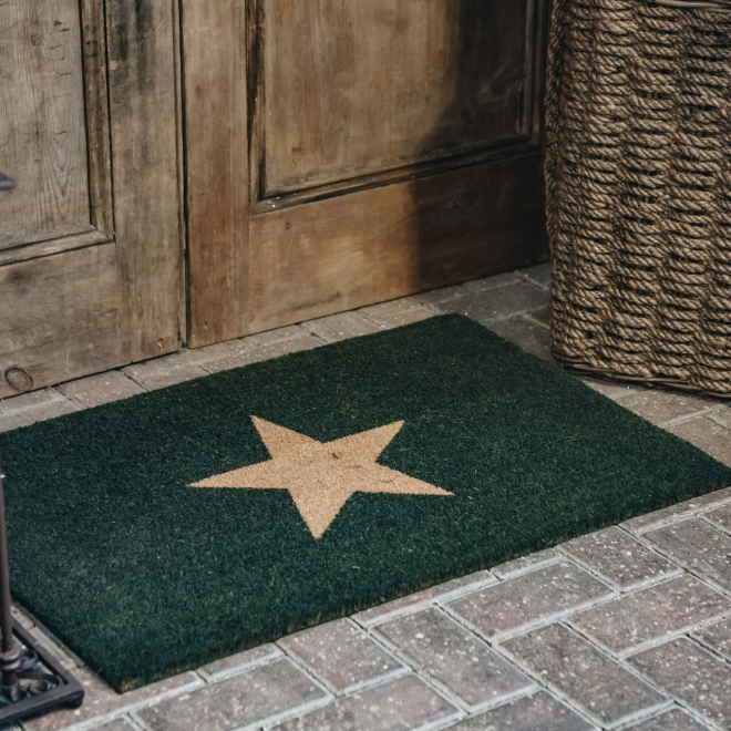 Forest Green Large Star Doormat