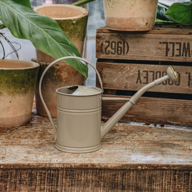 Grey Metal Watering Can, Small