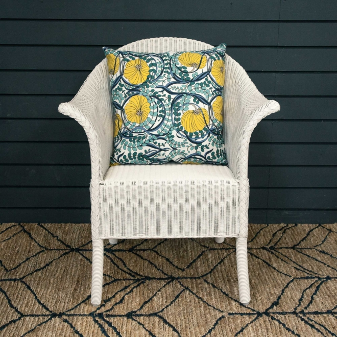 Classic Lloyd Loom Armchairs - in Snow White