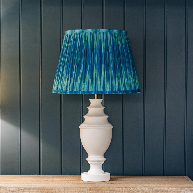Pooky Empire Lampshade in Teal Ikat