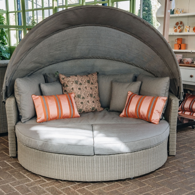 Barbados Day Bed in Stone Grey