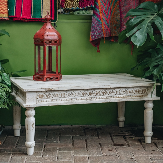 Bobbin Ivory Indian Coffee Table
