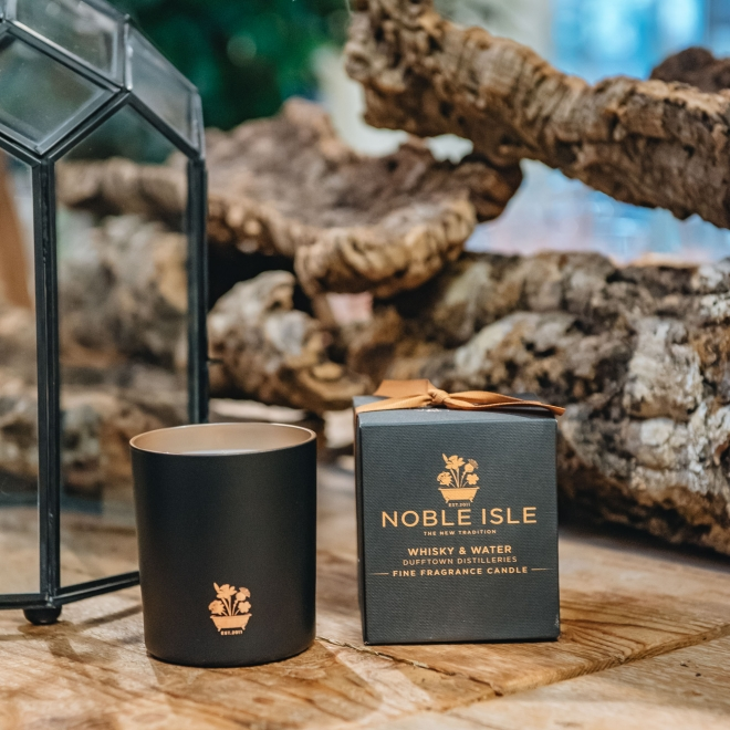 Noble Isle Luxury Candle in Whisky and Water fragrance