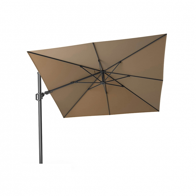 T2 Challenger Taupe Square Free Arm Parasol 3m