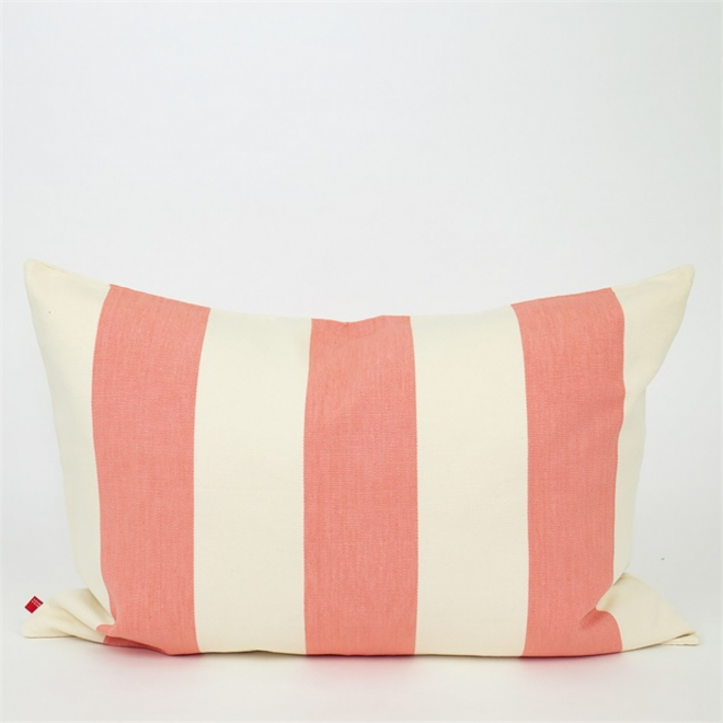 Fifi Rectangular Cushion (in Pink and White) from Afroart