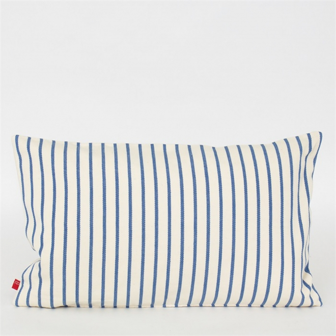 Zabel Cushion in Blue and White from Afroart