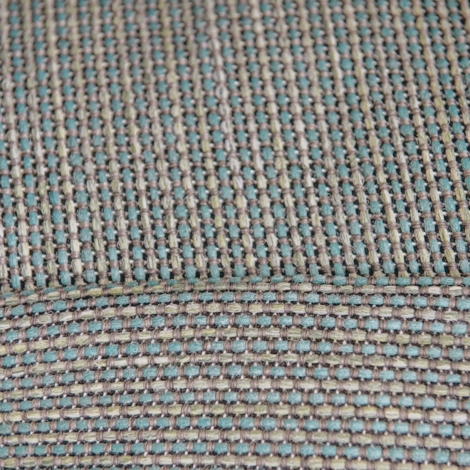 Dotty Corner Pouf in Turquoise - Detail