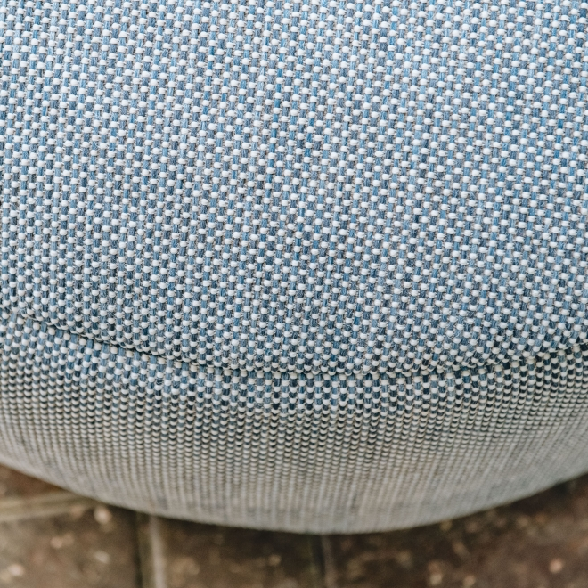 Dotty Round Pouf Large Navy - Detail