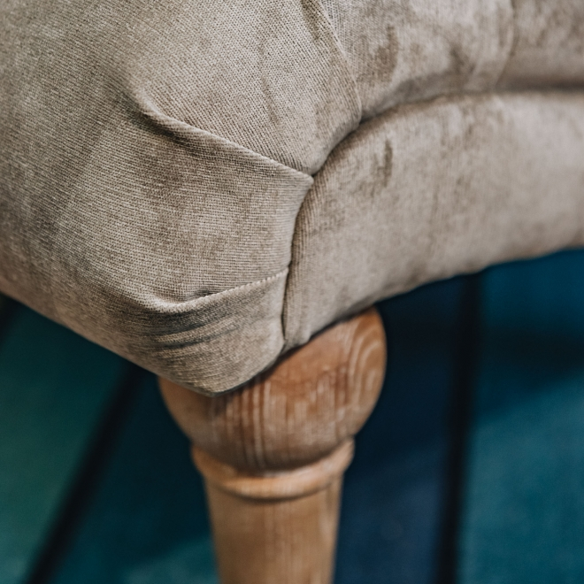 Occasional Norton Chair in Platinum - Front Detail