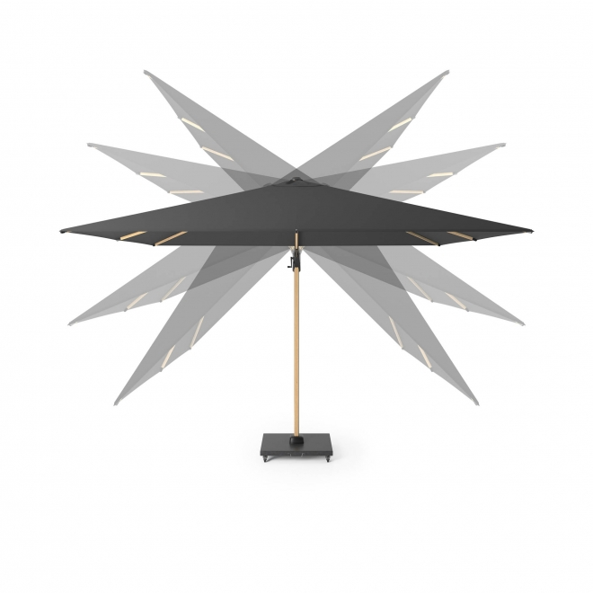 Square Oak Challenger Free Arm Parasol in Faded Black (3m)