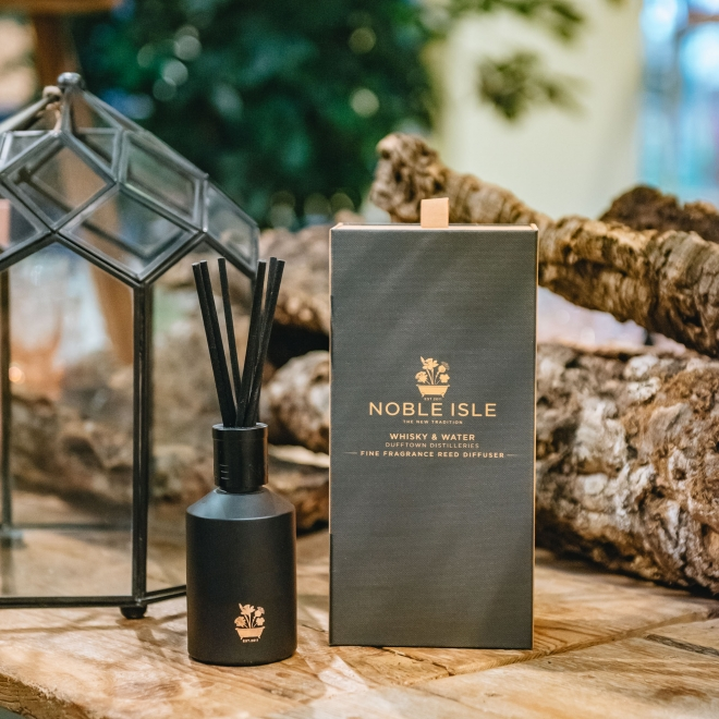 Noble Isle Luxury Reed Diffusers in Whisky and Water Fragrance