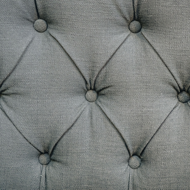 Norton Curved Buttoned Linen Sofa Charcoal - Detail
