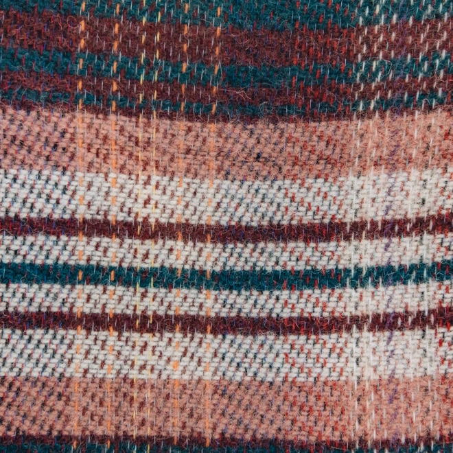 All Wool Picnic Throw - Bottle Green Swatch Detail