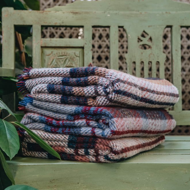 All Wool Picnic Throw