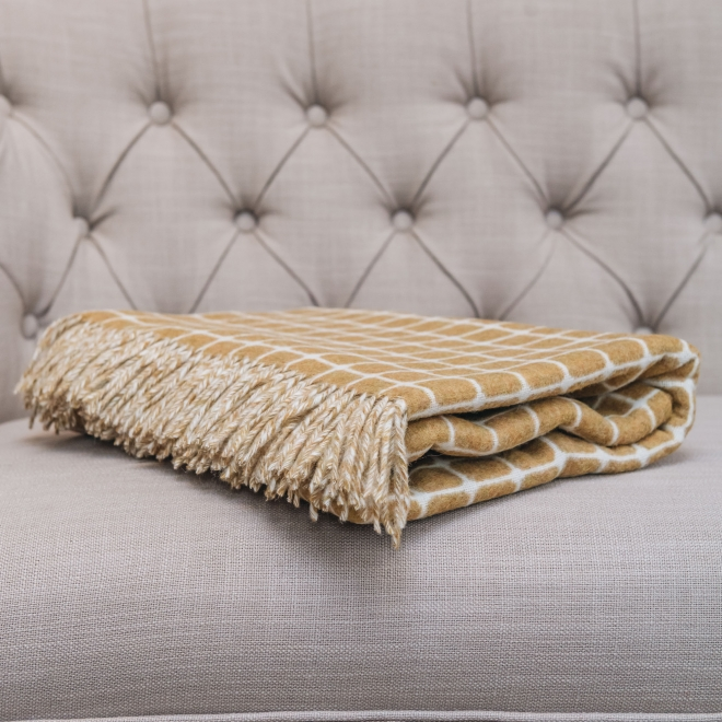 Athens Gold Throw Folded