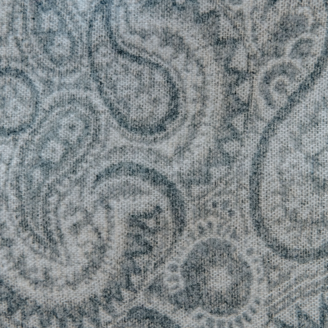 Bayswater Paisley Throw in Slate - Swatch Detail