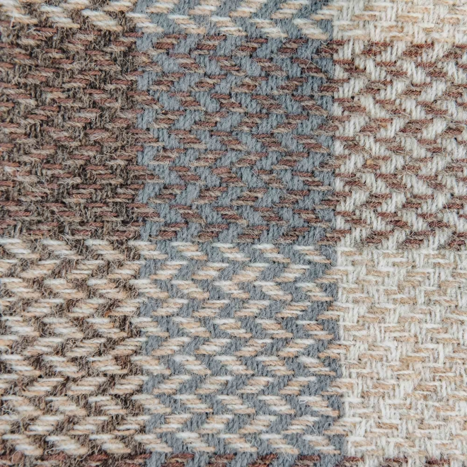 Celtic Weave All Wool Throw - Natural Swatch Detail
