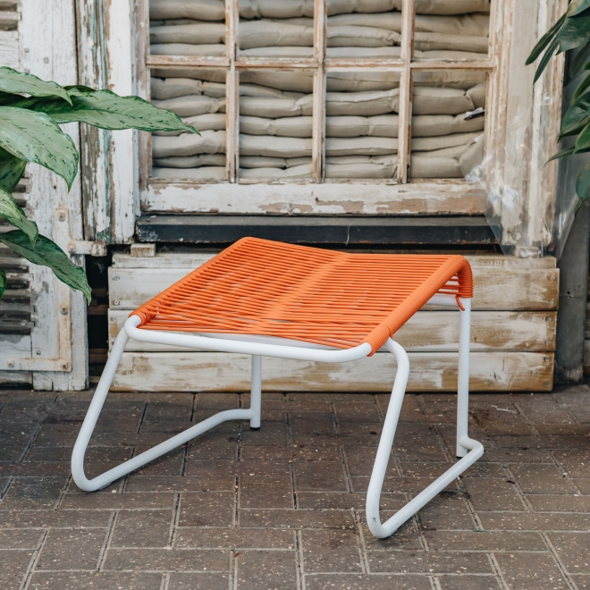 Lido Garden Footstool Orange