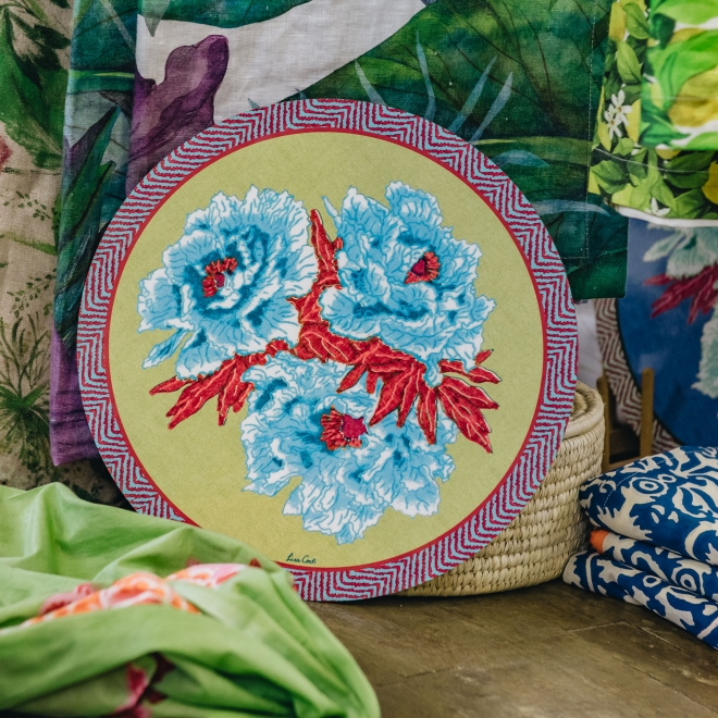 Large Blue Garden Placemats in Chutney