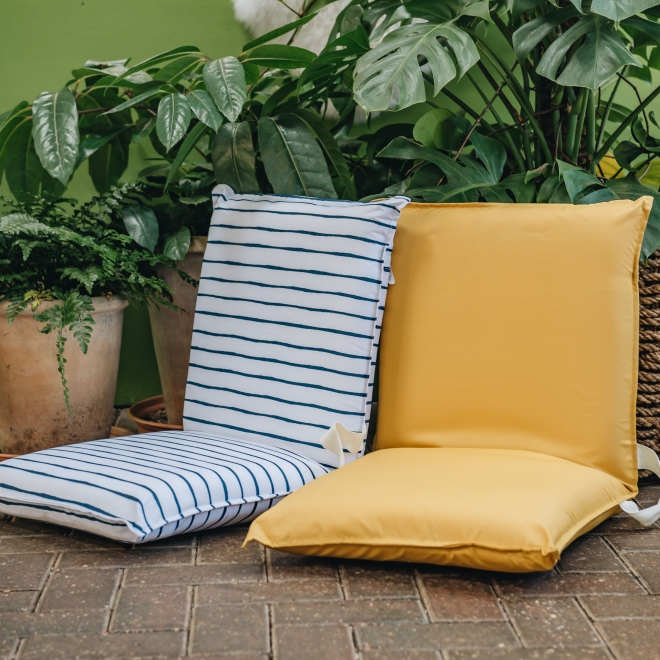 Travel Loungers - in Mustard and Blue