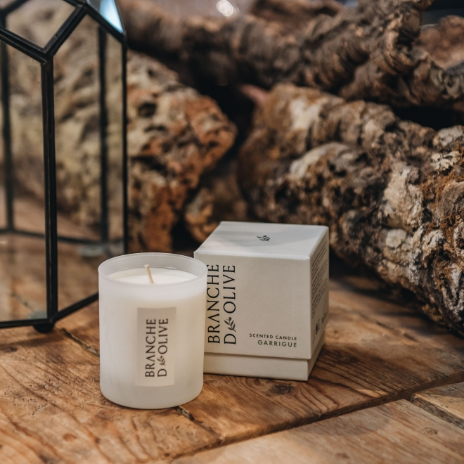 Garrigue Branche d'Olive Candle with Box